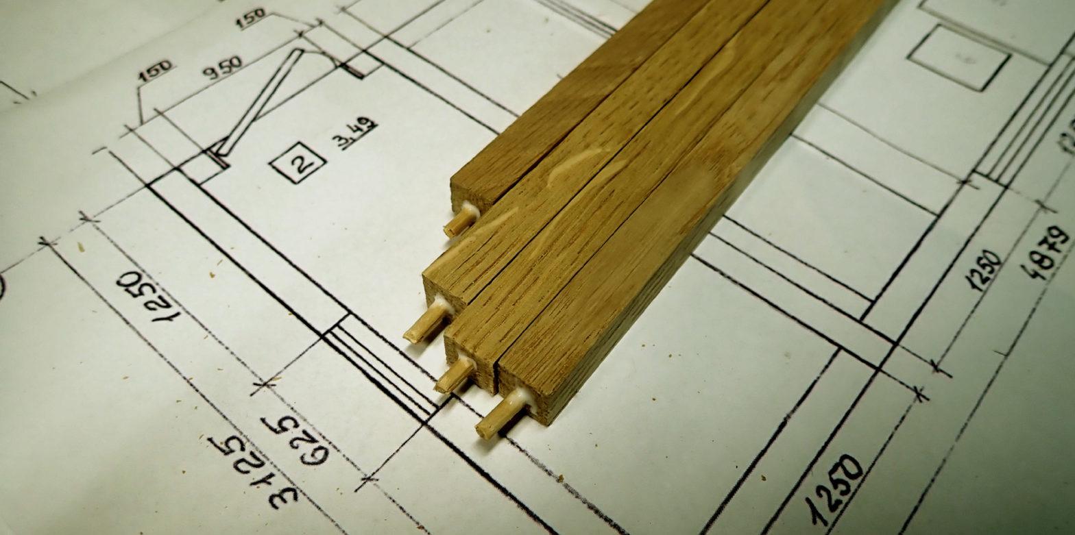 dřevěný model domu nákresy