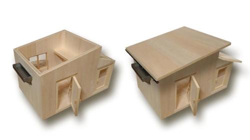 balsa-chata-plasticky-model